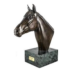 "Marilyn Newmark Bronze Horse Sculpture ""Red Baron"""