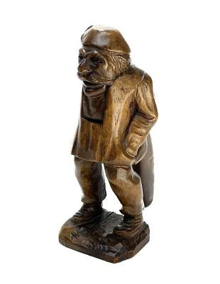 Continental Wooden Figural Man Hand Carved Nutcracker