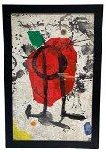 Joan Miro (Spanish, 1893-1983) Etching, Els Gossos IX