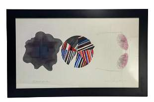 James Rosenquist Etching, Federal Spending, 1st State