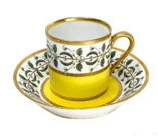 Imperial Manufacture de Sevres Cup and Saucer, 1807