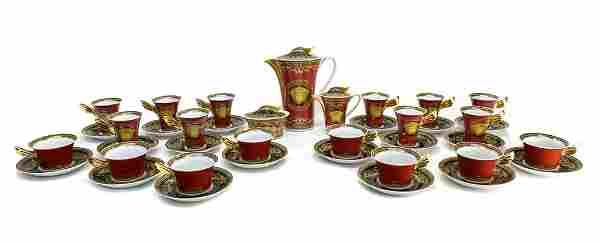 Versace Rosenthal Tea & Coffee Set for 10 in Medusa