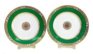 Pair Manufacture de Sevres Empire Plates, 1855 /1857