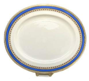 Large Royal Worcester for Tiffany & Co. Oval Tray