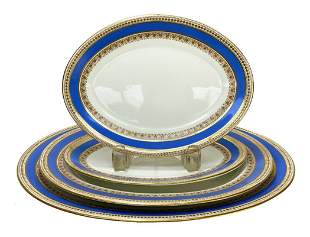 4 Royal Worcester Tiffany & Co. Oval Serving Dishes