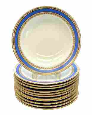12 Royal Worcester for Tiffany & Co Soup Bowls