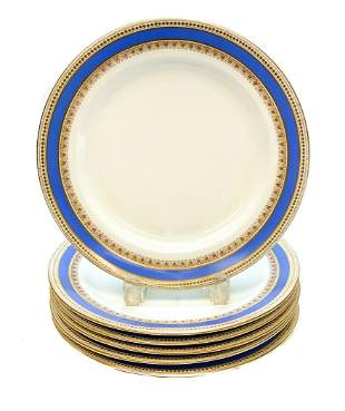 6 Royal Worcester for Tiffany & Co. Dinner Plates