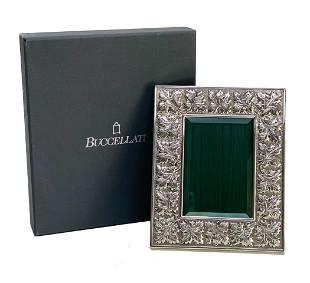 Buccellati Italian Sterling Silver Leaf Photo Frame
