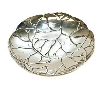 Tiffany & Co. Sterling Silver Round Leaf Dish #25226