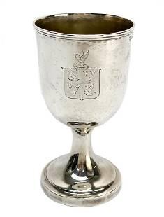 Robert Garrard II London Sterling Silver Goblet, 1842.