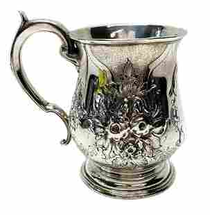 Richard Comyns Sterling Silver Tankard Decorated