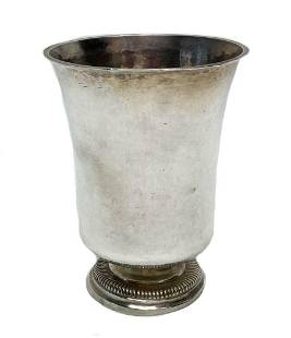 French Sterling Silver Beaker or Christening Cup Paris