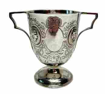 Joseph Angell Two Handled Sterling Silver Cup London