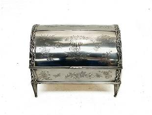 Comyns & Sons London Sterling Silver Jewelry Box
