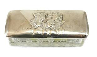 Henry Matthews Sterling Silver & Crystal Trinket Box