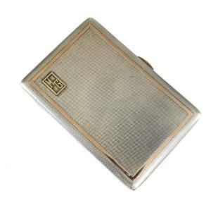 WH Manton London Sterling Silver Cigarette Case, 1915
