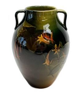Rookwood Pottery Floral Vase by Josephine Ella Zettel