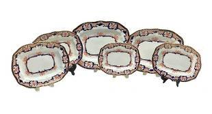 6 Royal Crown Derby Imari Graduated Platters 1915 &