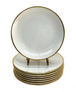 8 Tiffany & Co. Porcelain Palladium Bread Plates