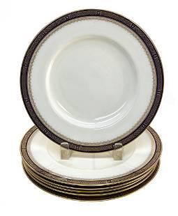 6 Royal Worcester England Porcelain 9.25 inch Plates