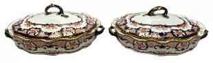 Pair Royal Crown Derby Imari Tureens 1915 Pattern 3653
