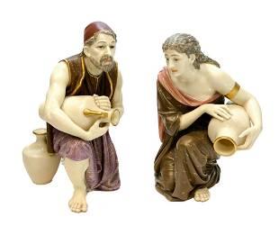 Pair Royal Worcester Porcelain Figurines, 1880