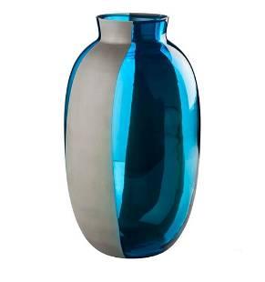 Venini Koori Aquamarine and Concrete Vase by Babled