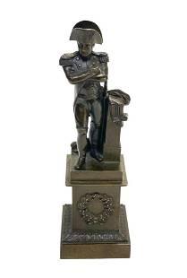 French Patinated Bronze Napoleon Miniature Sculpture