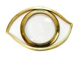 Hermes Gilt Metal Magnifier Glass