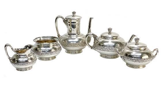 Tiffany & Co. Sterling Silver Tea Service, c1900