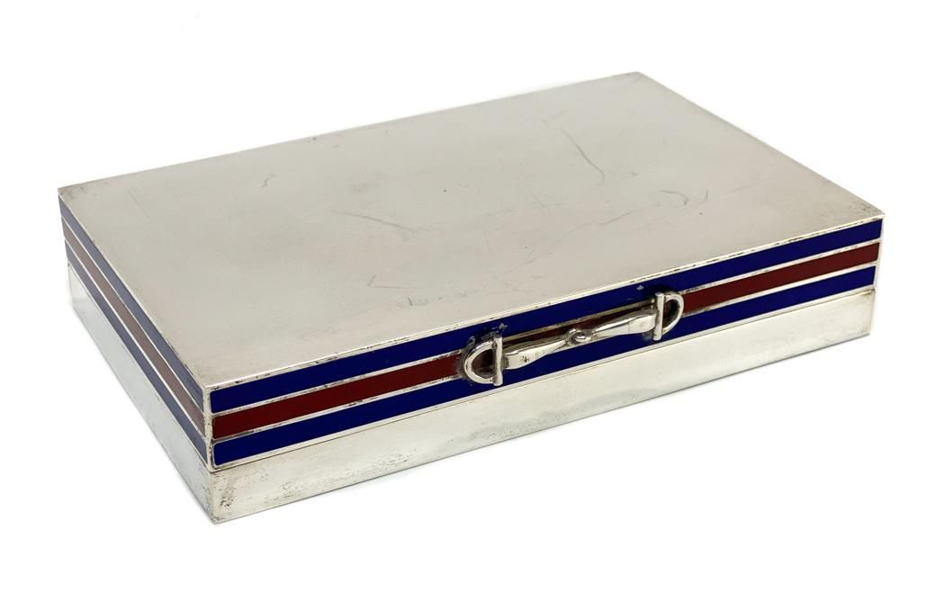 Gucci Italian 925 Sterling Silver Cigar Box