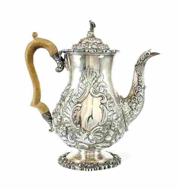 John Thomas Settle Sheffield Sterling Silver Coffee Pot