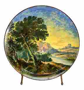 Minton England Porcelain Hand Painted Wall Charger Tray