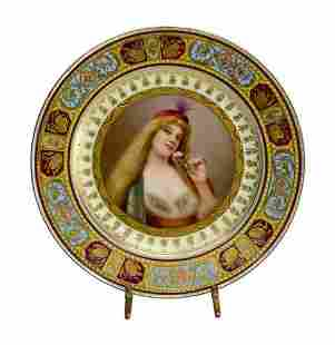 Royal Vienna Austria Porcelain Cabinet Portrait Plate