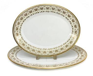 Minton England Porcelain Serving Trays in Jubilee
