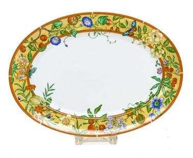 Hermes Porcelain Large Oval Platter in La Siesta