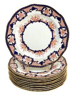 10 Royal Crown Derby Dinner Plates in Imari