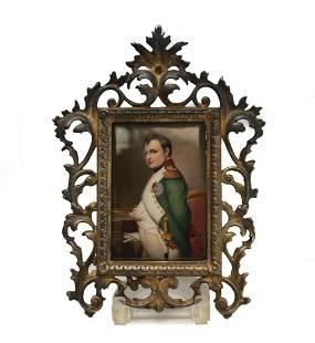 French Napoleon Bonaparte Porcelain Plaque, c1900