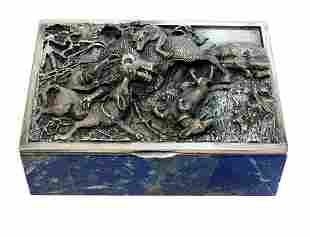 Taillan Adriano Dunhill 800 Silver Lapis Lazuli Box