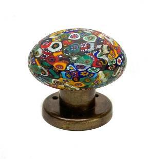 Italian Millefiori Glass Paperweight or Door Knob