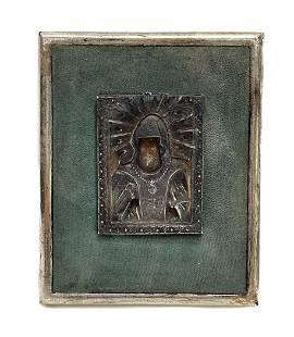 Russian Silver Saint Icon Medalian