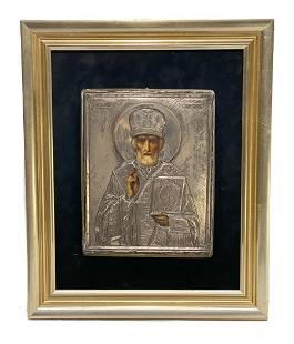 Russian Silver Saint Icon