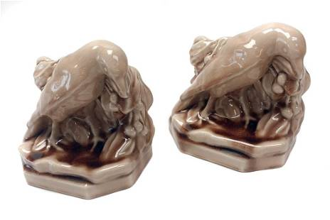 1949 Rookwood Pottery - Bookend Rooks, #2275