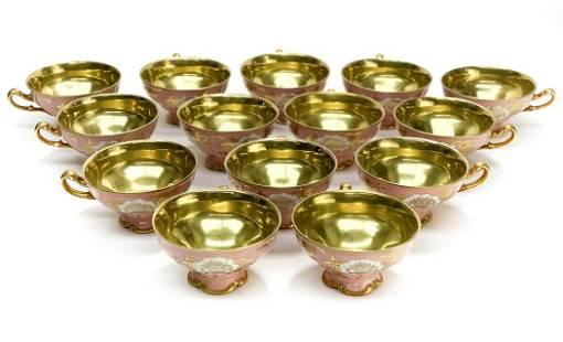 14 Vintage Bohemia Carlsbad Porcelain Porcelain Cups in