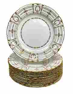 11 Royal Crown Derby Tiffany Porcelain Dinner Plates
