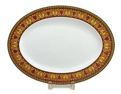 Versace Rosenthal Porcelain Oval Serving Tray in Medusa