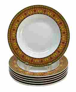 6 Versace Rosenthal Porcelain Soup Bowls in Medusa