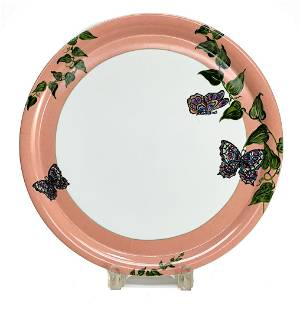 Christofle France Platter in Volubilis et Papillons