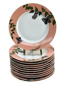 12 Christofle Bread Plates in Volubilis et Papillons