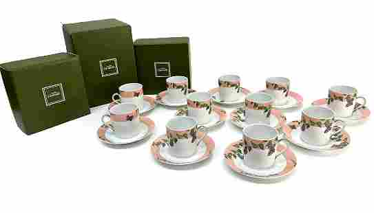 11 Christofle Cup & Saucers in Volubilis et Papillons